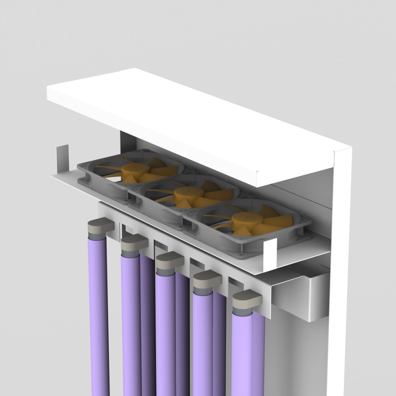 Настінний бактерицирецидний рециркулятор високої продуктивності повітрообміну AntiBact Air (AAV-MAX-30-5-8)